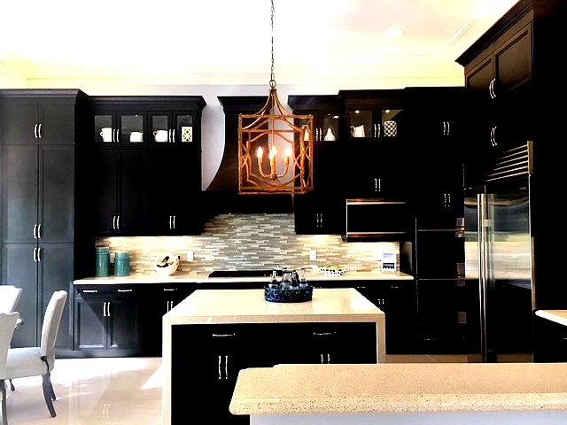 gourmet kitchen at seven bridges in delray beach by gl homes