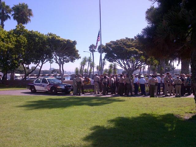 Marina Del Rey Memorial for Harold Edginton photo by Endre Barath