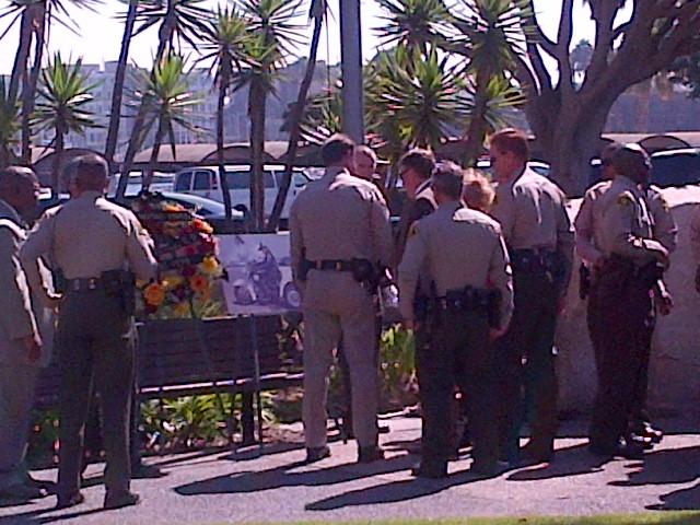 memorial for Patrolman Harold L Edginton