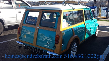 The Mini Traveler, the vintage car, Endre Barath, Marina Del Rey ocean view condominiums