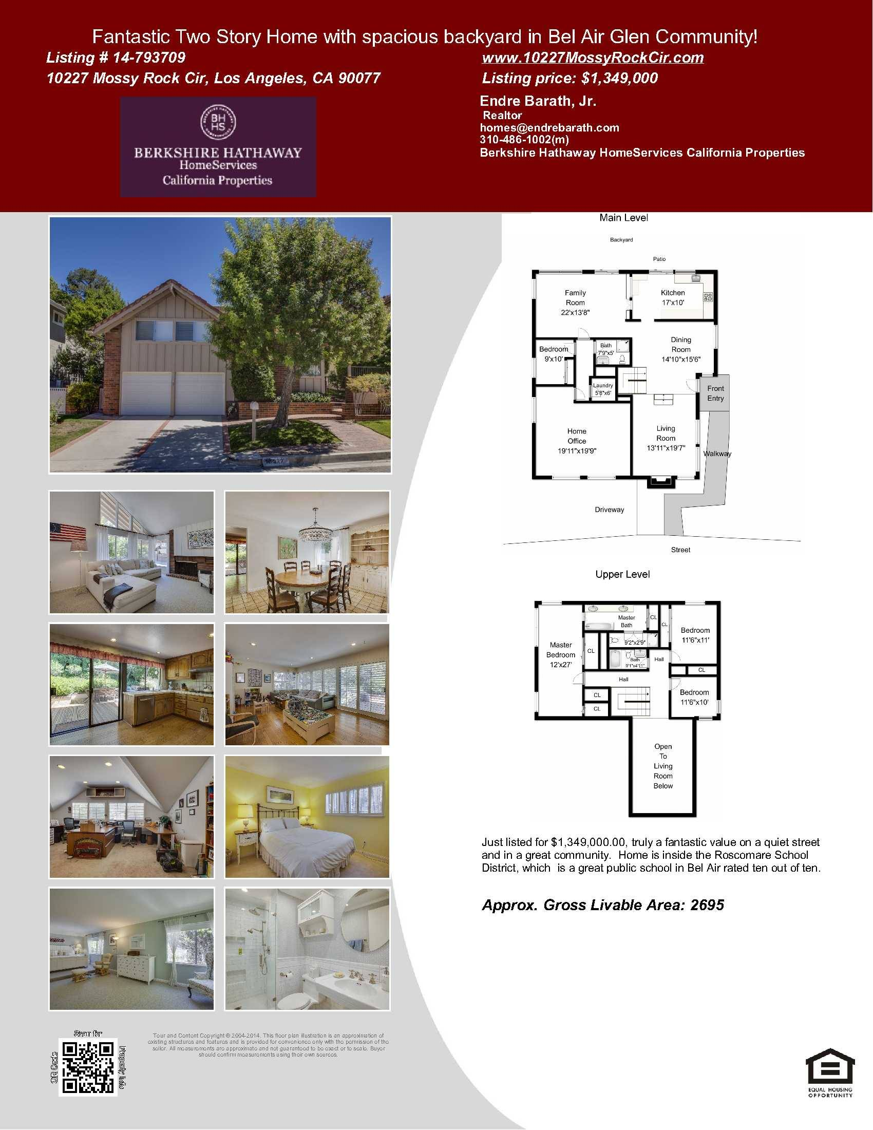 Just Listed Fantastic Two Story Home in 90077 Zip Code Bel Air Glen Endr