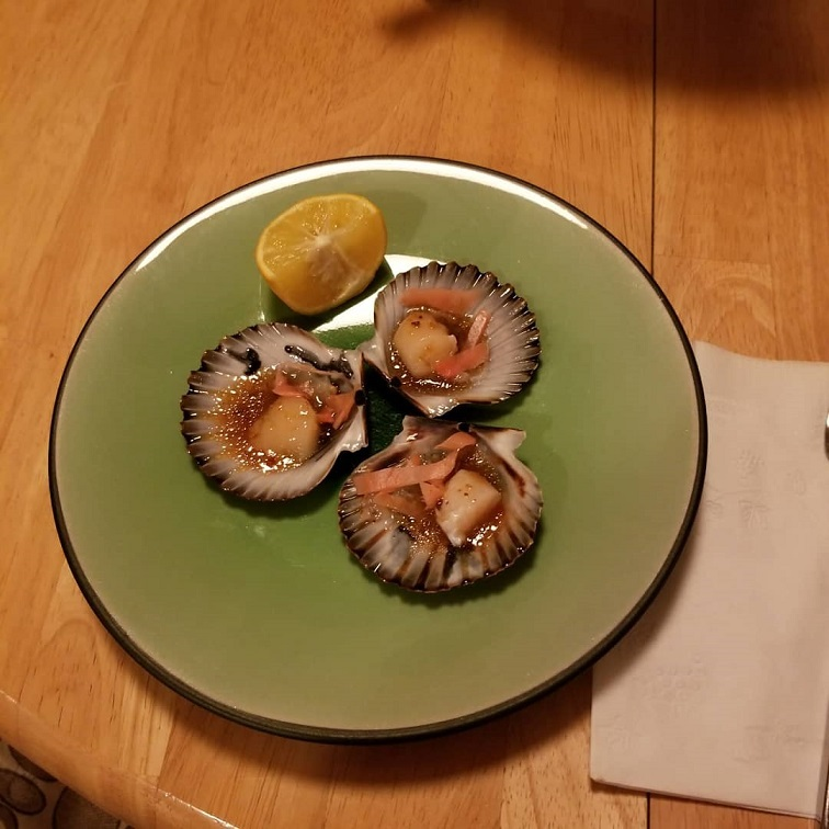 how to cut scallop sashimi