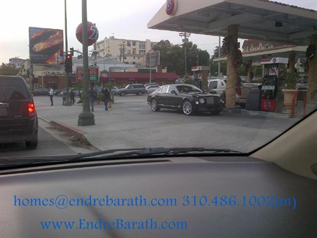 Bentley at a Westwood Gas Station, Endre Barth
