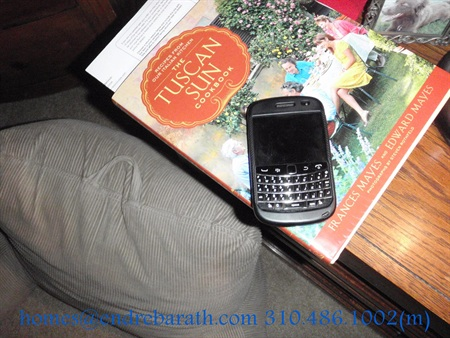blackberry on nightstand, Endre Barath