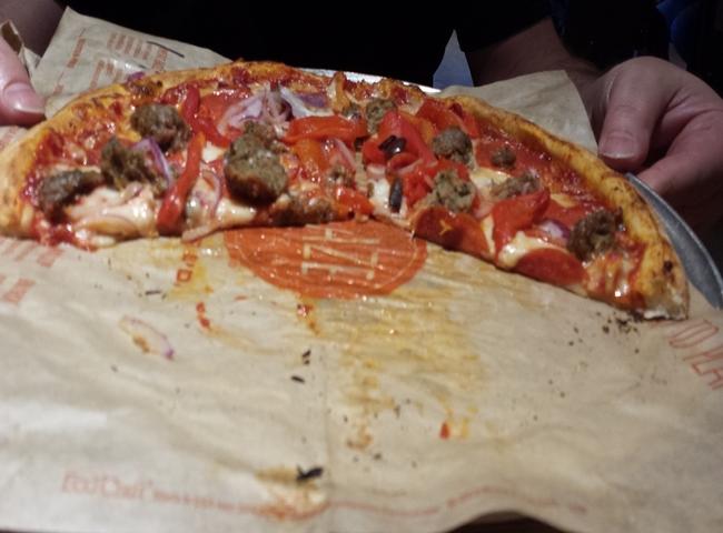endre barath, meat eater's pizza at blaze