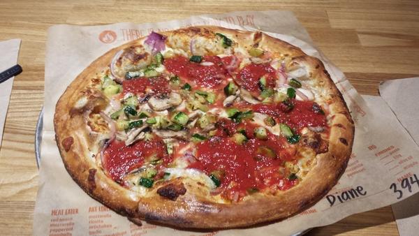 blaze vegetarian pizza, endre barath