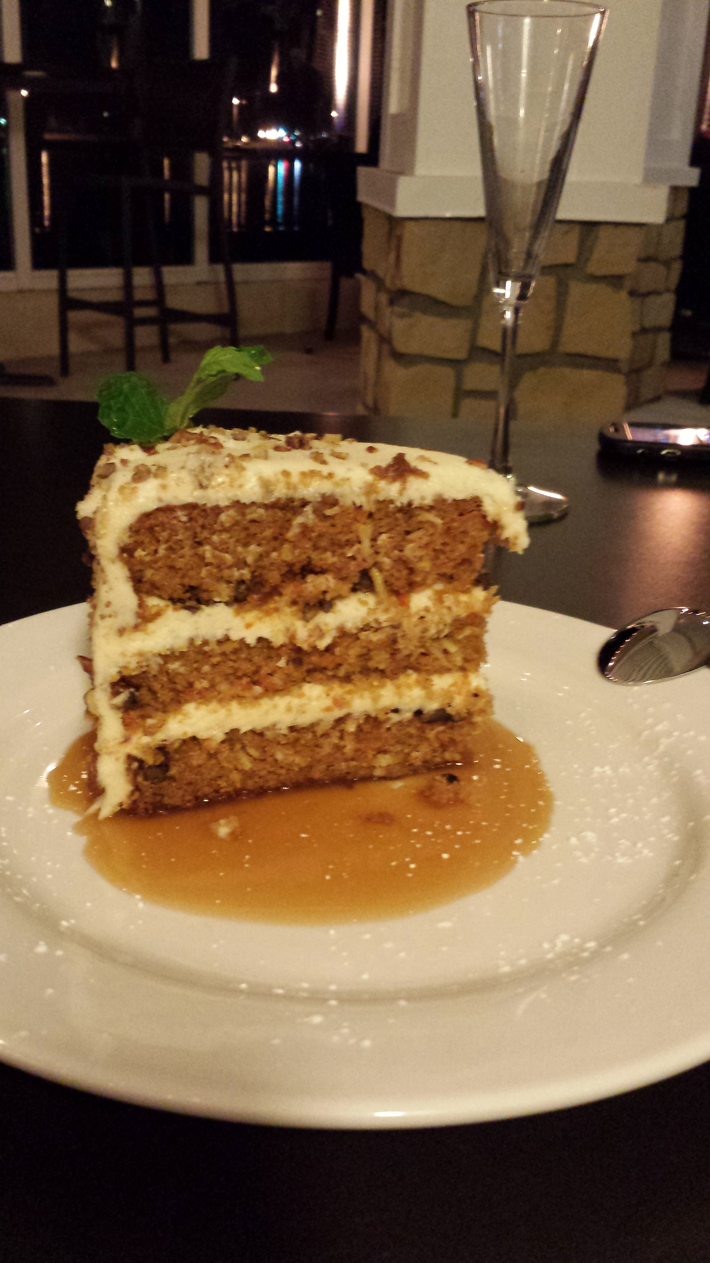 carrot cake with bourbon sauce endre barath