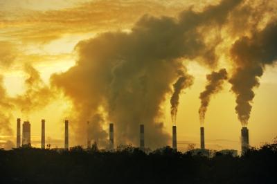 steam from chimneys