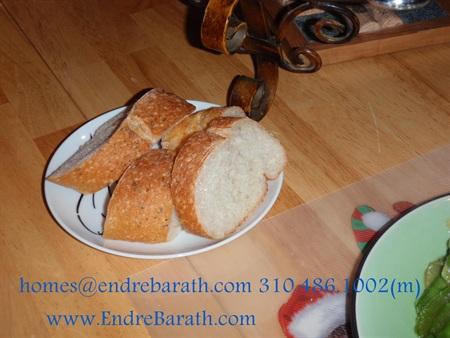 pea pods shrimp & bread
