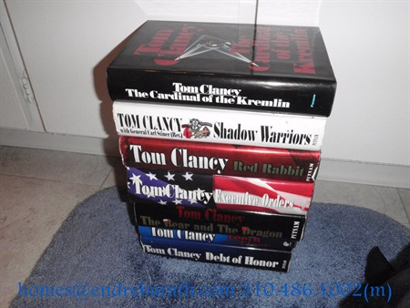 Books by Tom Clancy photo by Endre Barath Los Angeles Realtor