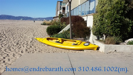 Yellow Kayak on the beach, Endre Barath, Merry Christmas in Marina Del Rey,CA