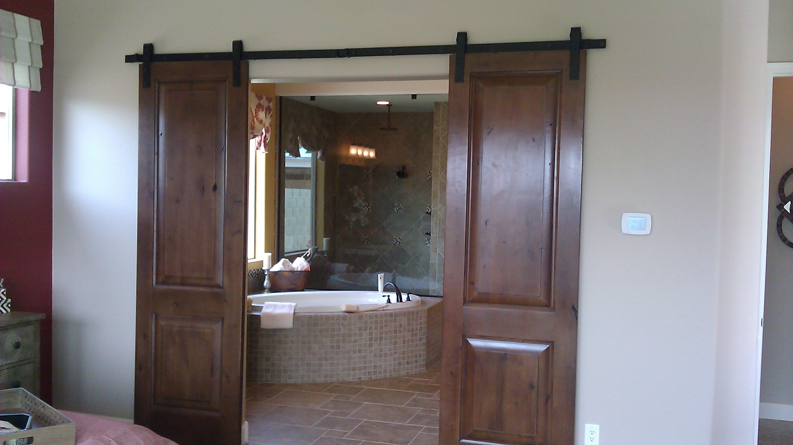 Ordinaire Privacy Doors_Master Bath_T W Lewis