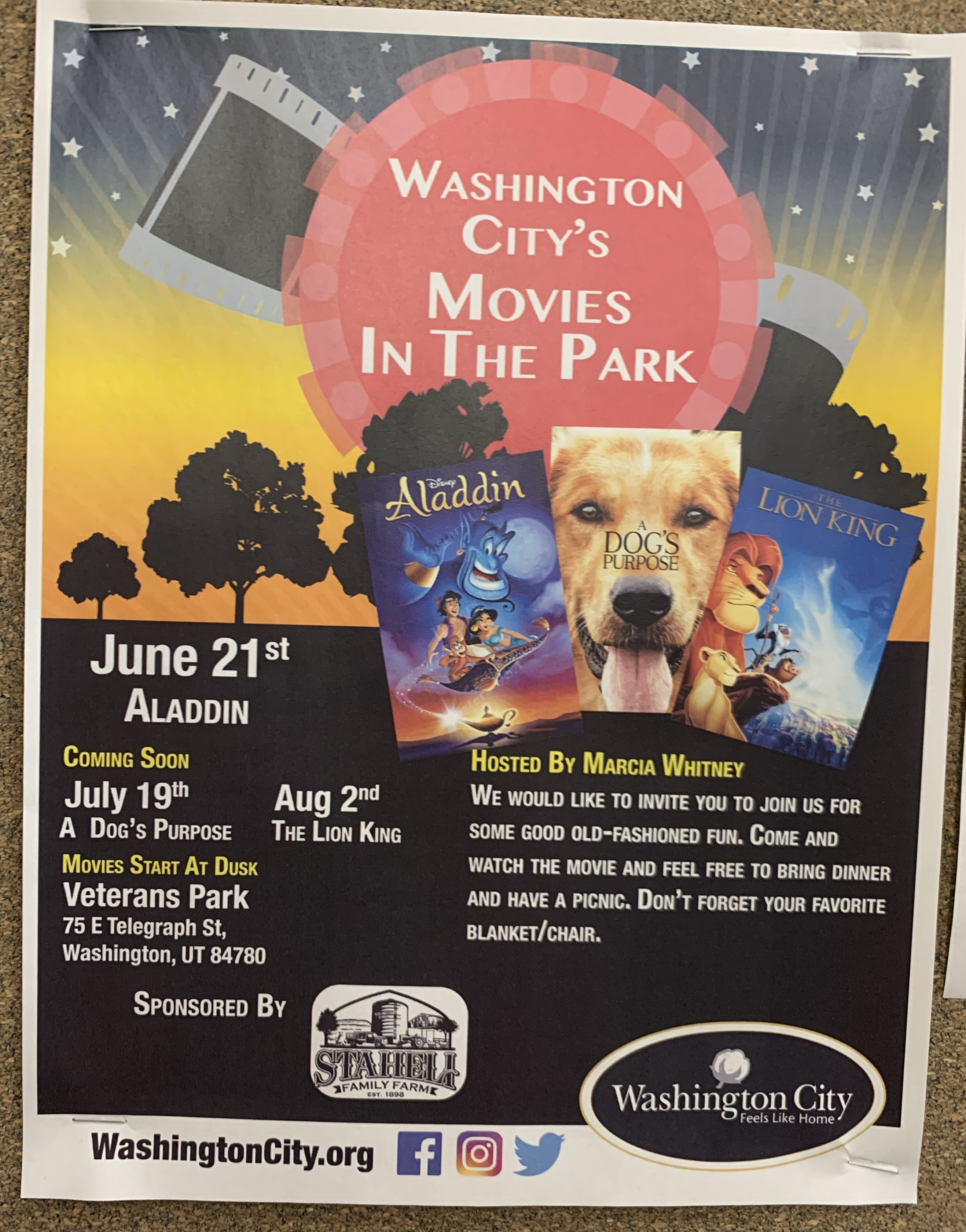 Movies in th Park