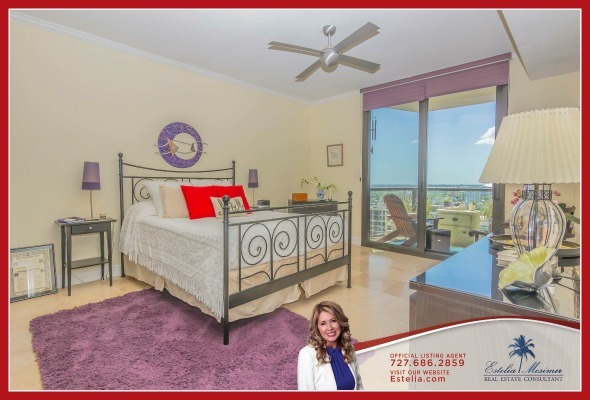 St. Petersburg FL Real Estate Properties for Sale - Look forward to a long, relaxing sleep in the beautiful bedroom of this St. Petersburg condo for sale.