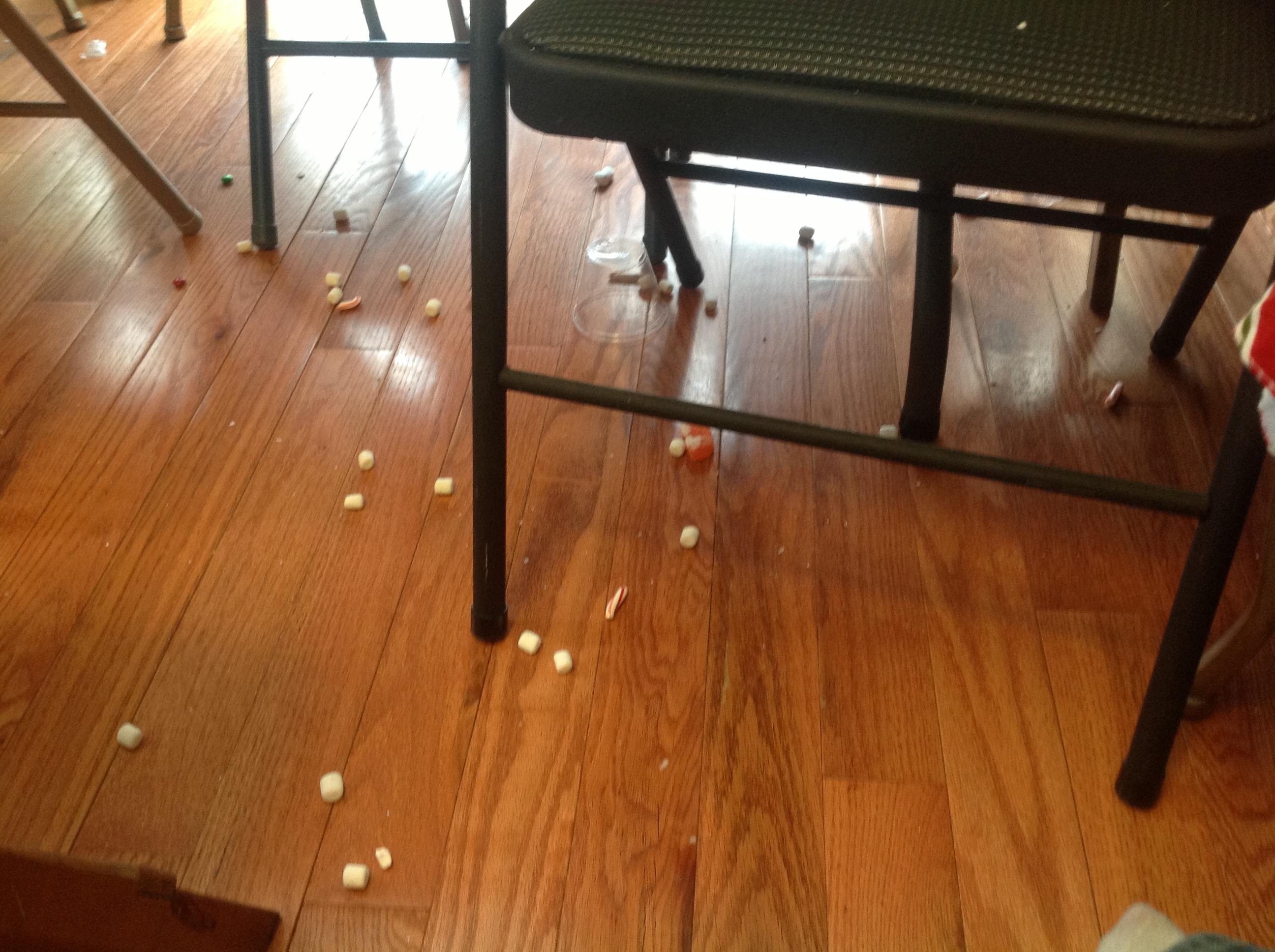 photo of candy on the floor
