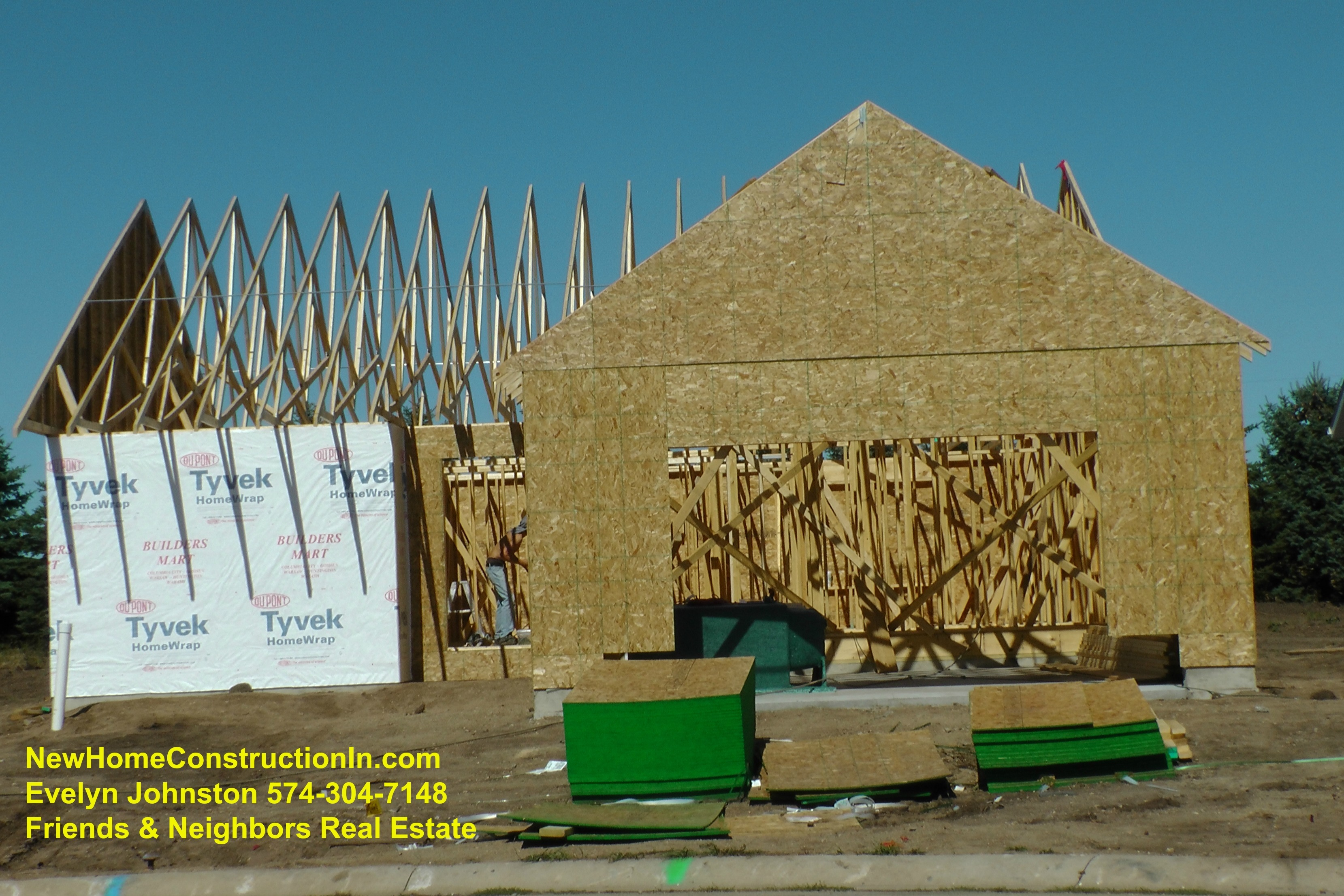 What is the new home construction process for New construction building process