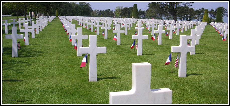 Normandy American cemetery in France photo by evelyn kennedy