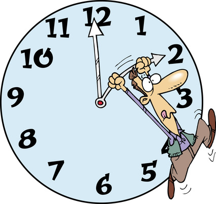 Remember to Move Your Clock Head tonight