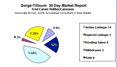 Gorge Tillicum Real Estate October 30 Day Market Snapshot