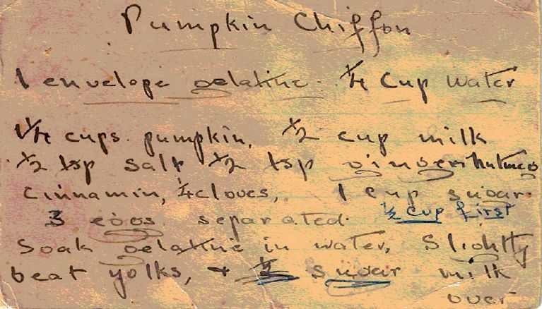 I am So Thankful My Mum Gave Me her Chiffon Pumpkin Pie recipe