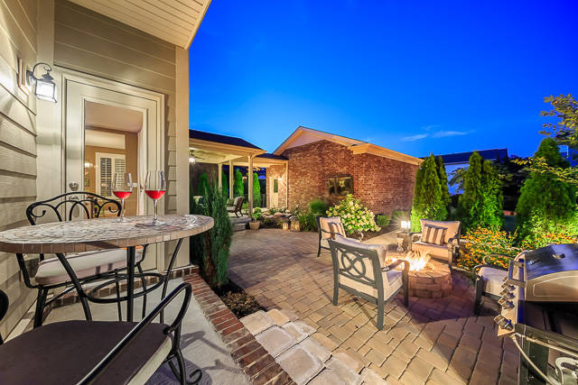 Franklin TN Home in Zip Code 37067 with a Gas-Powered Fire Pit