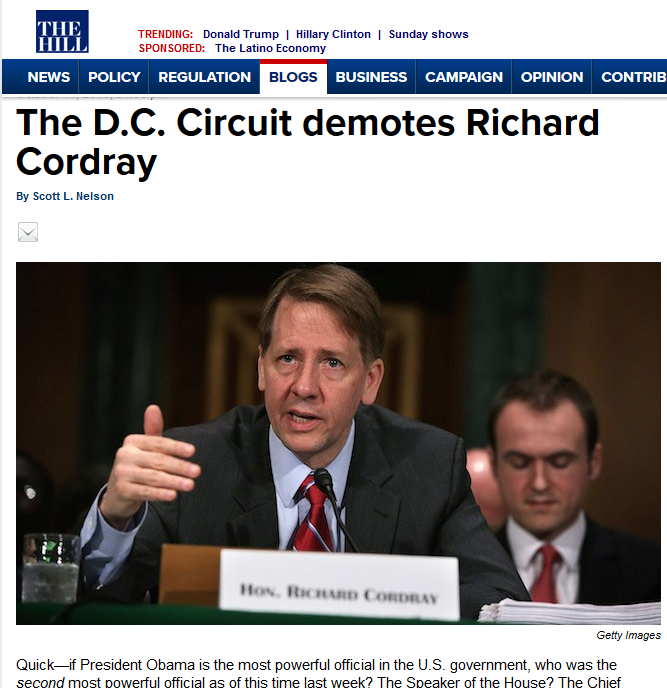 The Hill on CFPB
