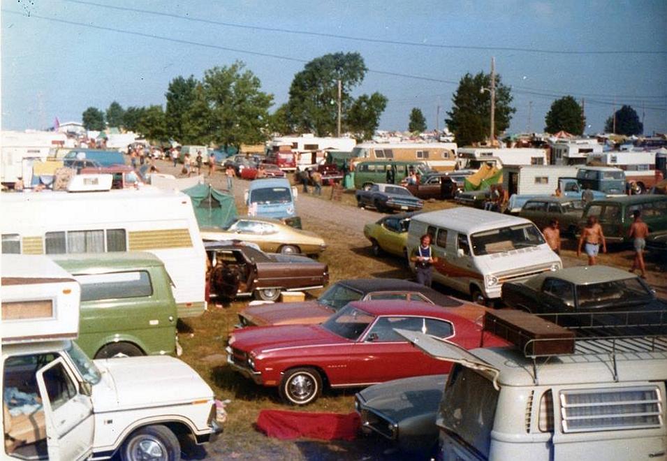 Classic Cars Ozark Music Festival 1974