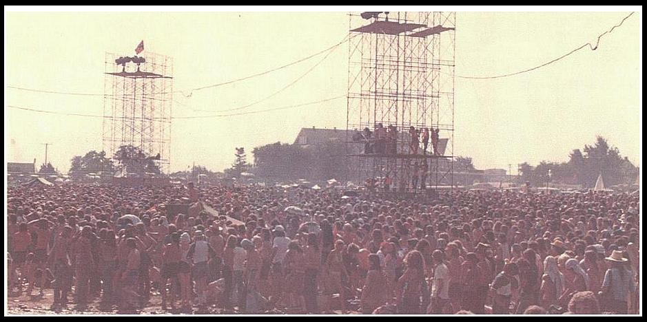 Speaker Towers at OMF 1974