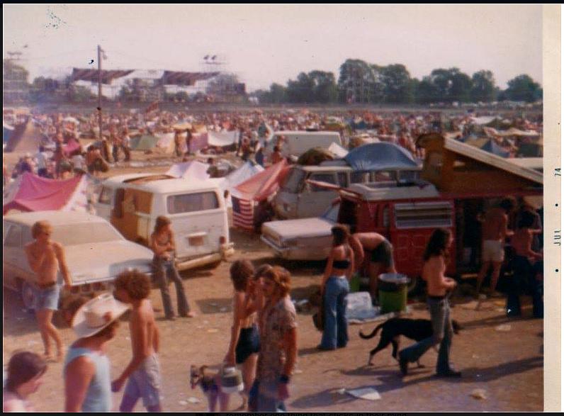 Festival Goers in Sedalia Missouri 1974