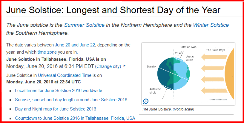 Summer solstice june 20 2016 6 34 eastern time for What day is the shortest day of the year