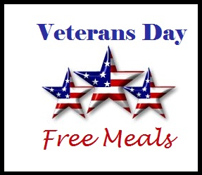 Veterans day enjoy free meals at many restaurants for Does olive garden give military discount