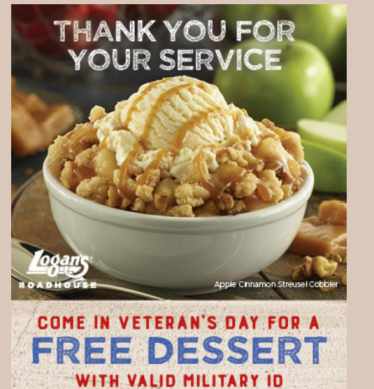Veterans free meals at many restaurants veterans day for Does olive garden give military discount