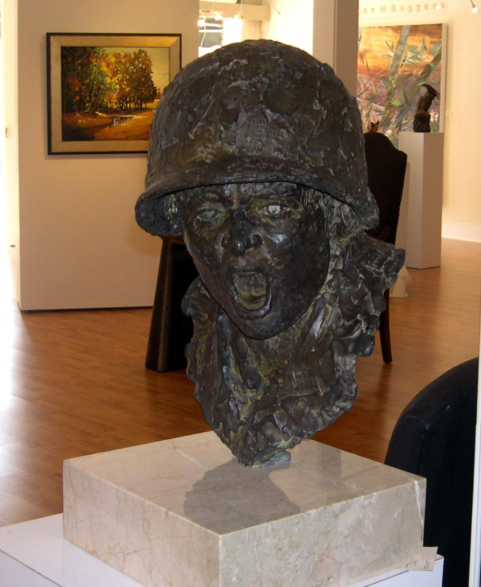 Sculptor in the Cooper Gallery Lewisburg WV