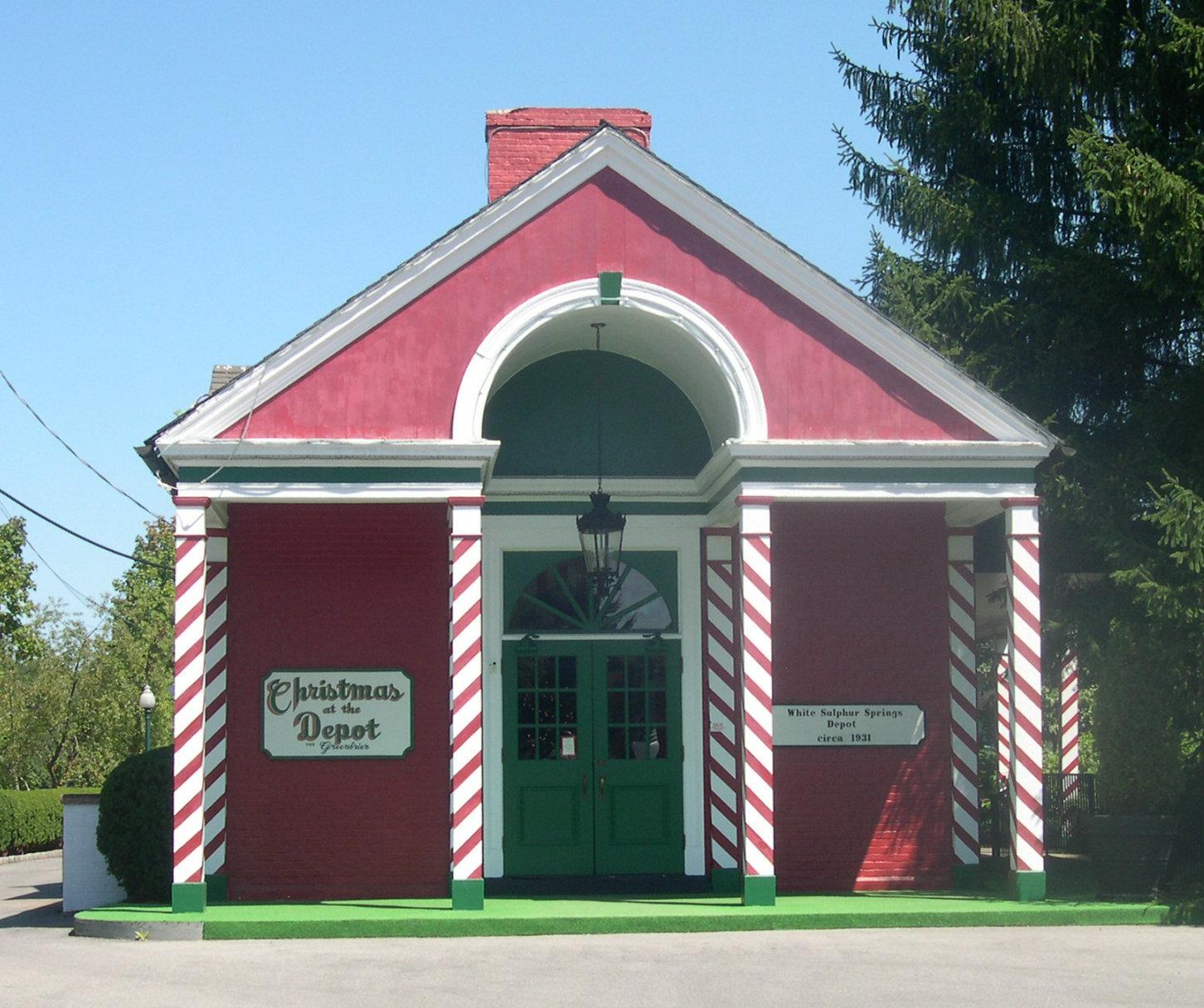 Amstrak Station Christmas Depot, White Sulphur Springs WV 24986