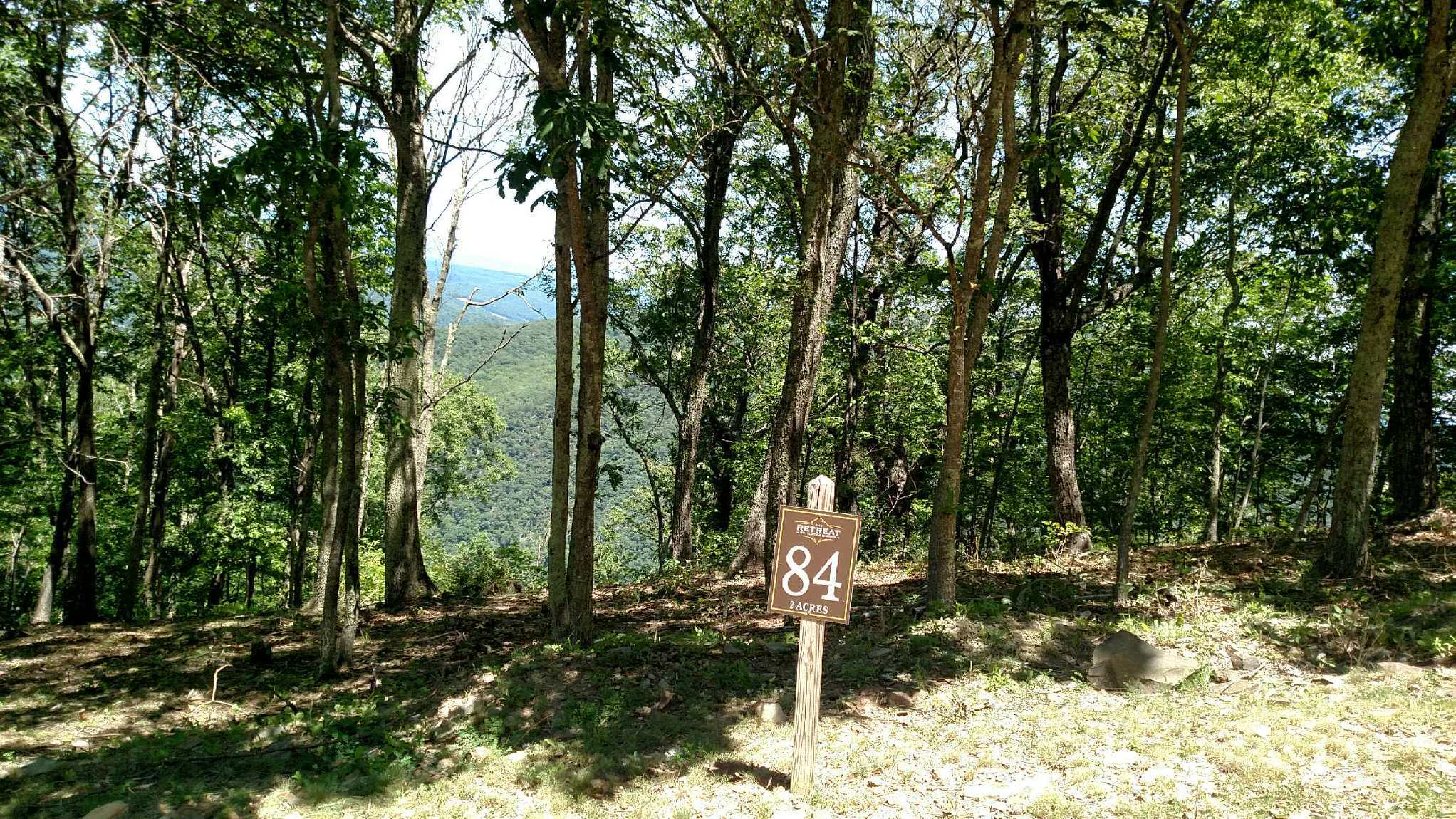 2-acre lot, #84, for sale at the Retreat, White Rock Mtn, Caldwell WV