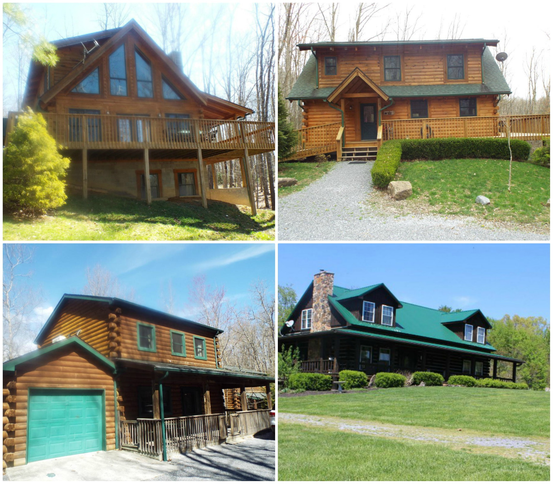 log homes for sale in greenbrier county wv