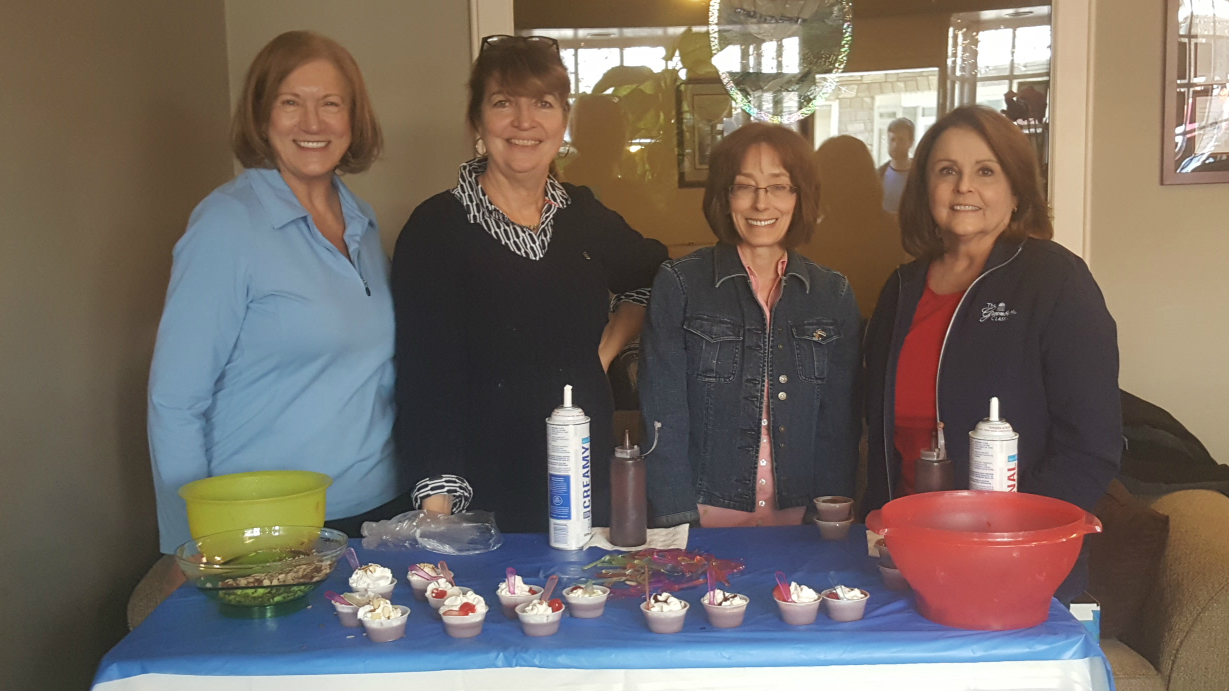 Remax makes chocolate mousse for the Lewisburg Chocolate Festival