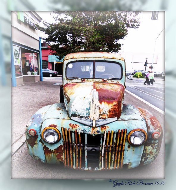 Old Car in Astoria Oregon-Gayle Rich-Boxman 10.15 Copyrighted All Rights Reserved 2016