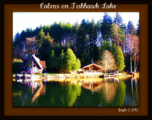 Cabins on Fishhawk Lake-photo by gayle rich-boxman