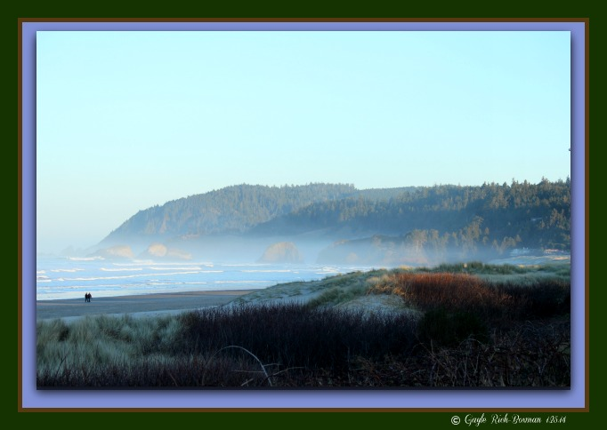 Cannon Beach Oregon morning in January 2014-Gayle Rich-Boxman Copyrighted All Rights Reserved