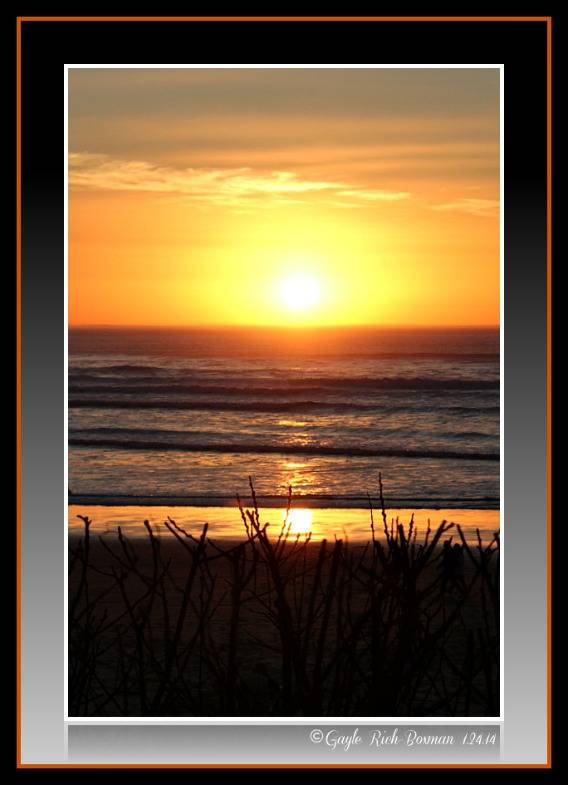 Cannon Beach sunset in January 2014-Gayle Rich-Boxman Copyrighted All Rights Reserved