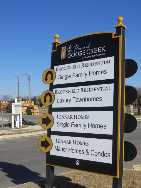 Goose Creek Village Sign