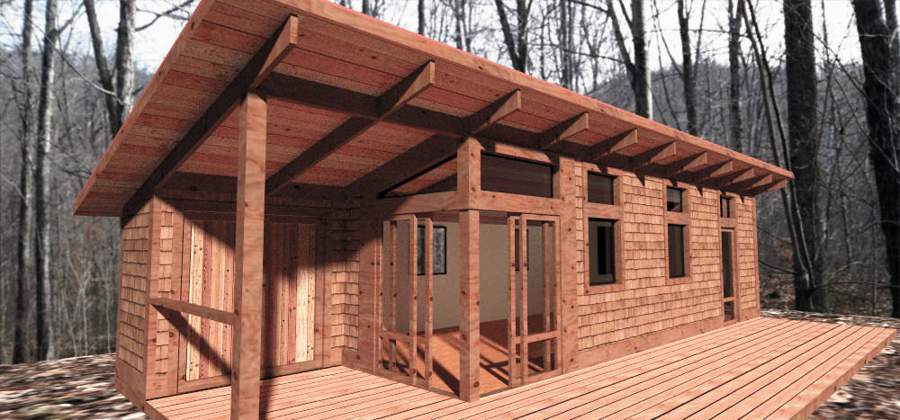 Tiny homes affordable green living near blue ridge ga for Affordable home builders near me