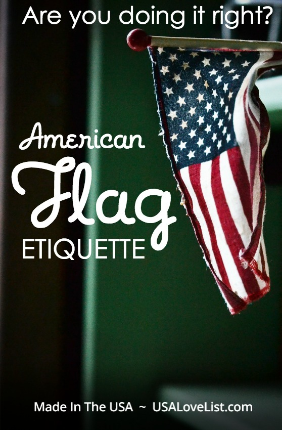 Teach your kids flag etiquette for Flag etiquette at home