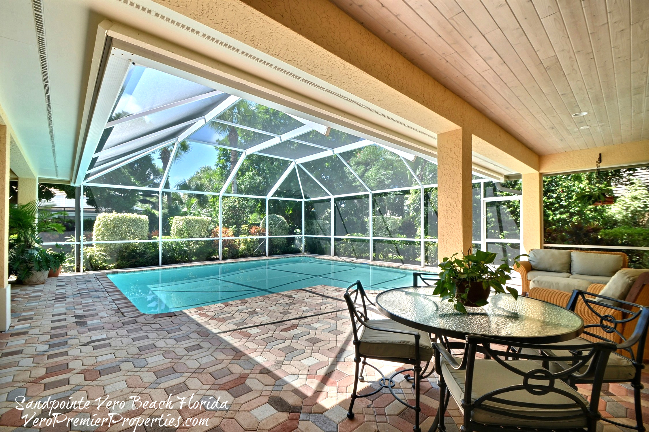 Vero beach pool home gated community with beach access for Home outdoor pool