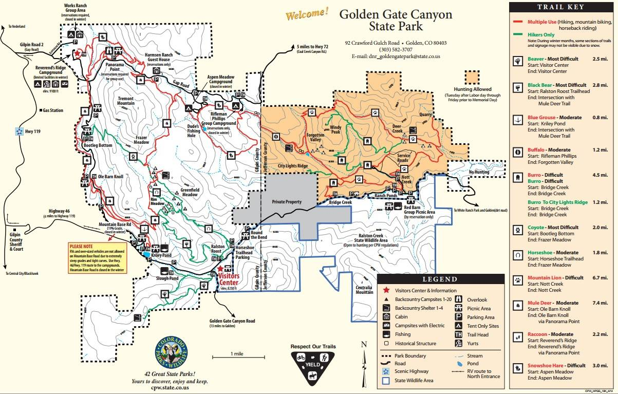 Golden gate canyon state park golden co for Colorado out of state fishing license