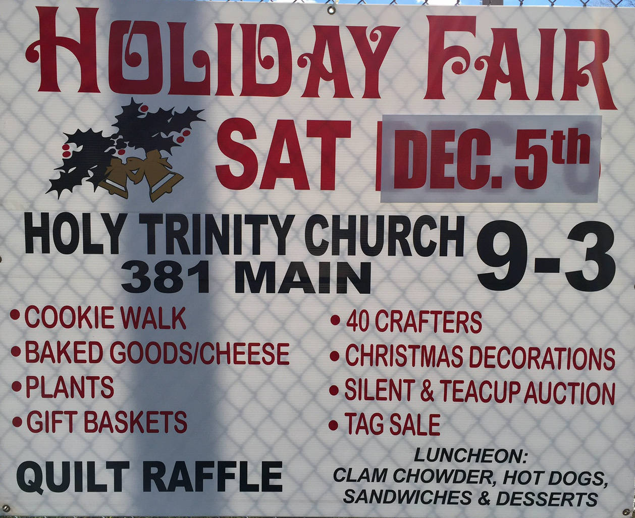 Holy trinity church middletown ct holiday fair decembe for Craft fairs in ct december