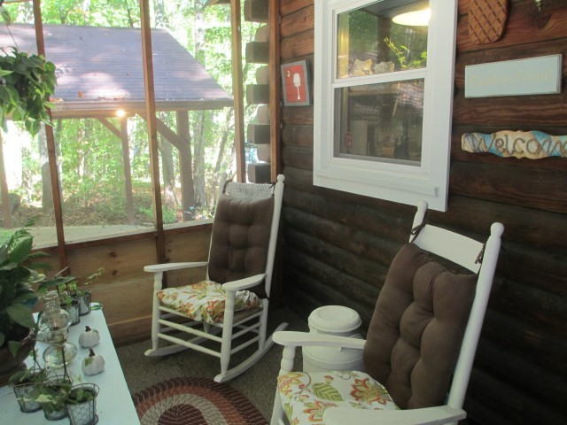305 Lake Cheohee Road, screened porch on front