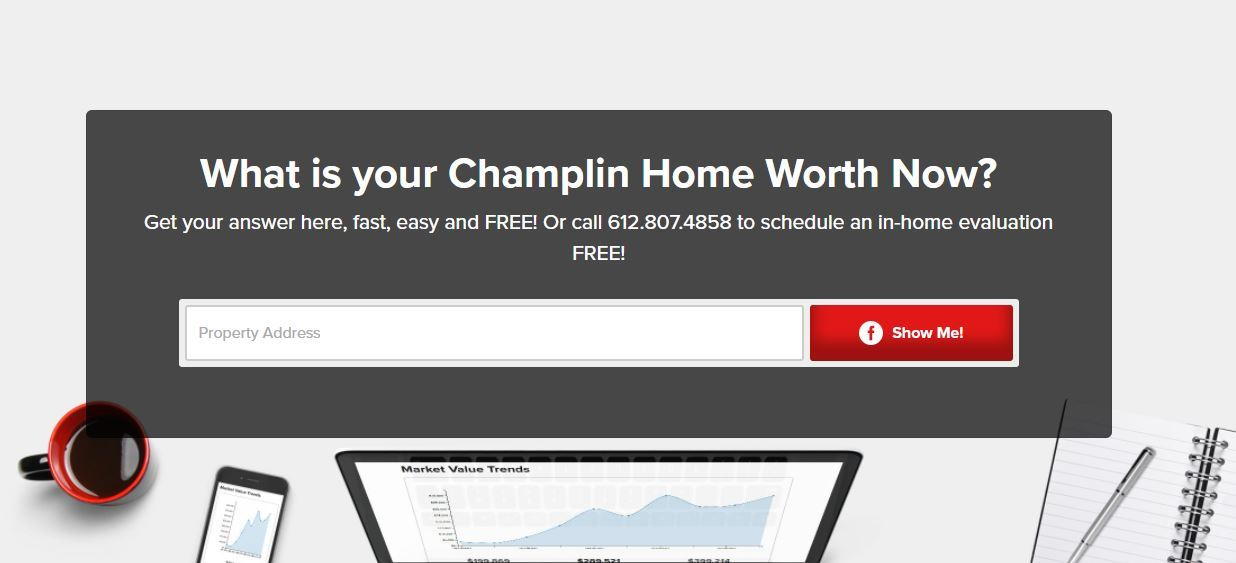 champlin mn free home value