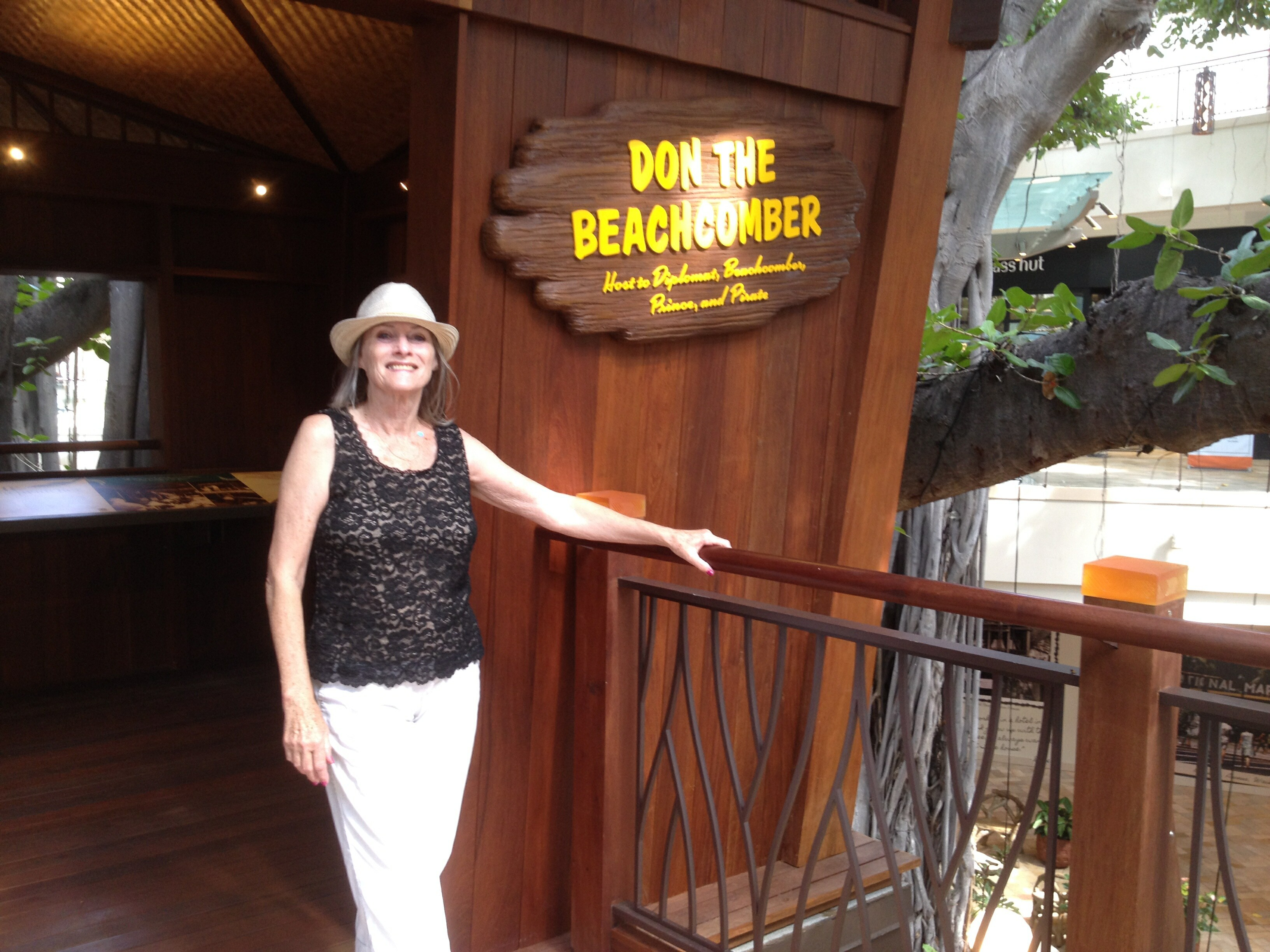 Hella Rothwell at the new Don The Beachcomber Treehouse at the International Market Place Waikiki